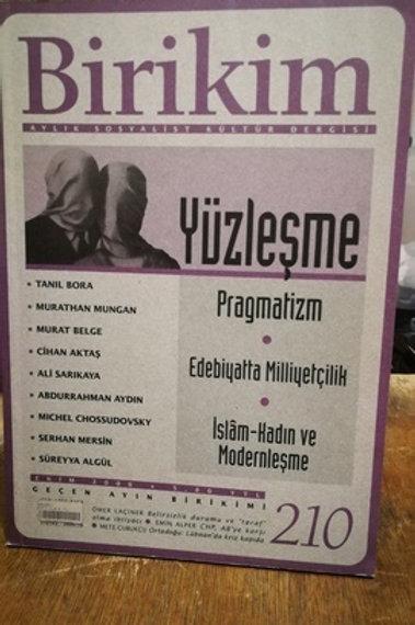 Birikim Aylık Sosyalist Kültür  Dergisi Sayı : 210