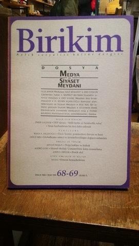 Birikim Aylık Sosyalist Kültür Dergisi Sayı: 68-69