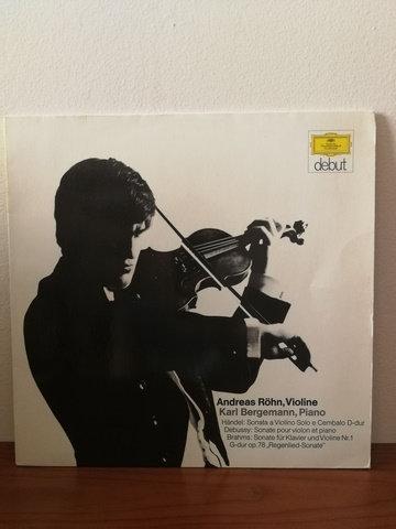 Andreas Röhn Karl Bergemann  Handel Debussy Brahms LP Plak