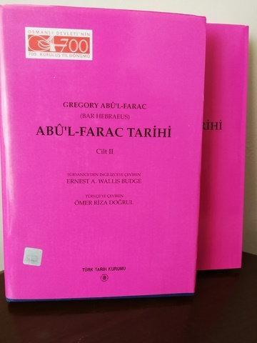 Abu'l Farac Tarihi 1-2 TAKIM