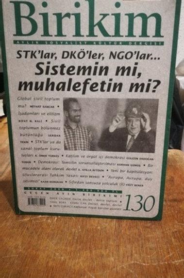Birikim Aylık Sosyalist Kültür  Dergisi Sayı : 130