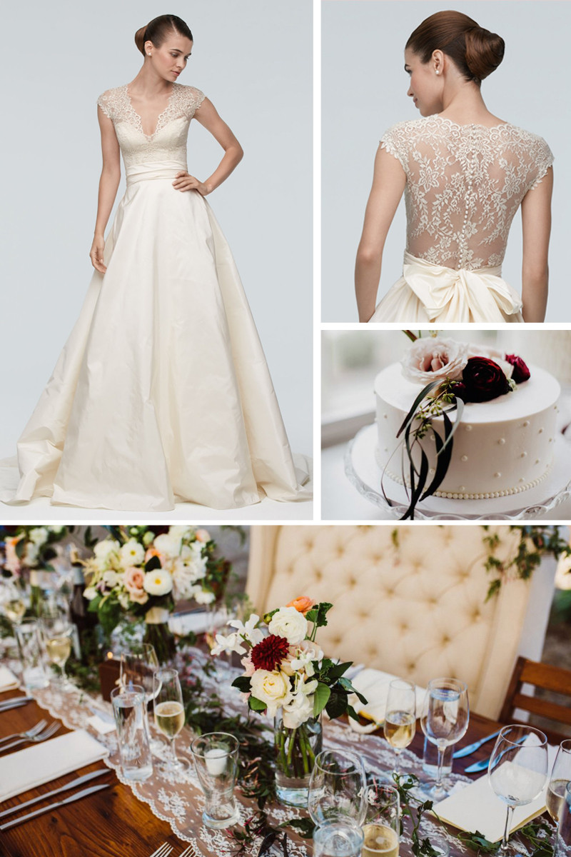 Inspiration for an elegant, romantic wedding wearing Watters Anita and Anais