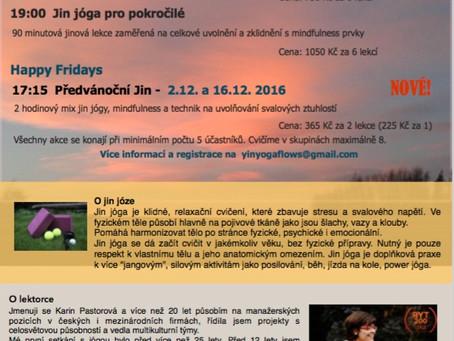 Podzimní cvičení jin jógy v Brně