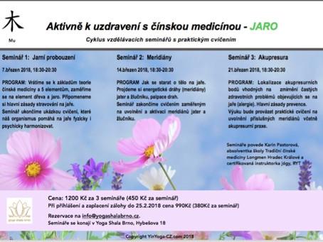 Nové semináře z cyklu Aktivně k uzdravení s čínskou medicínou - JARO