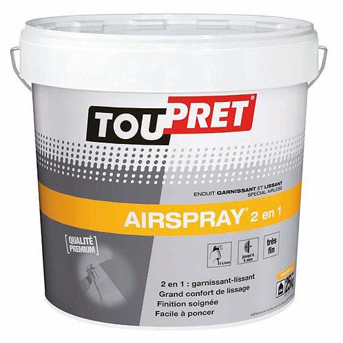 Toupret AirSpray 2in1 - gotowa gładź szpachlowa