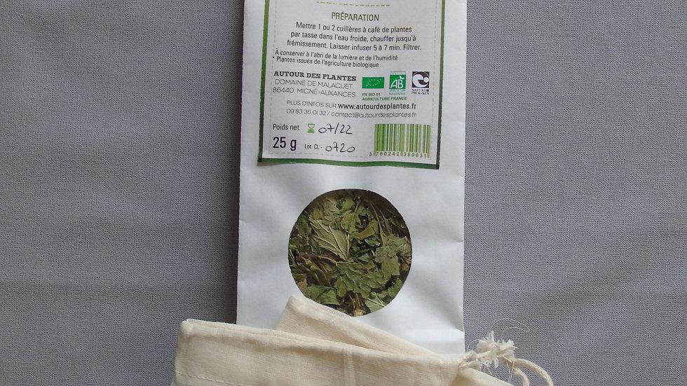 Tisane bio française ' Coeur léger' + 2 filtres en coton bio