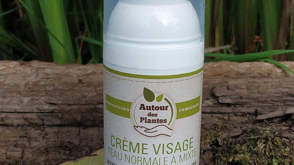 Crème visage. 50 ml. Peau normale à mixte de chez Autour des plantes