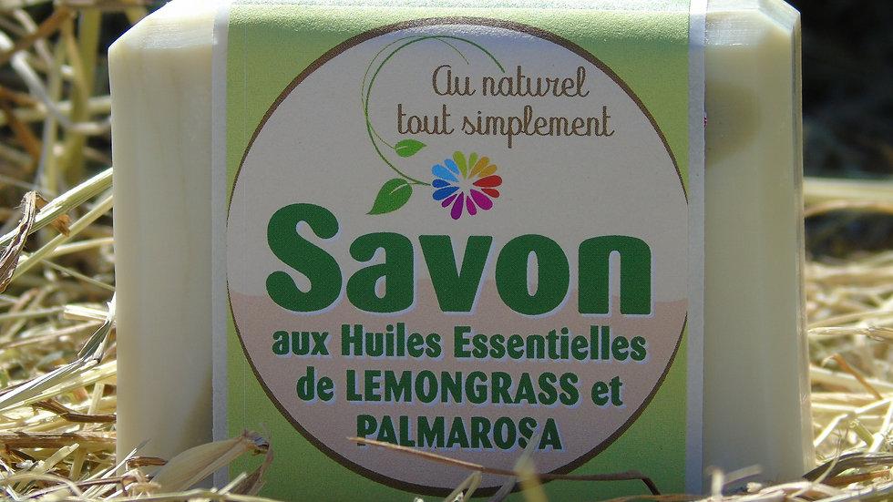 Savon aux huiles essentielles de lemongrass & palmarosa