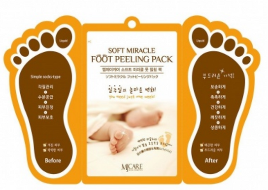 Premium Soft Miracle Foot Peeling Pack, Foot Peel Mask-Korea