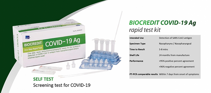 BIOCREDIT COVID-19 Ag (Single Test)