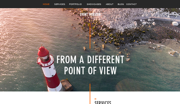 Photography website templates – Aerial Photography