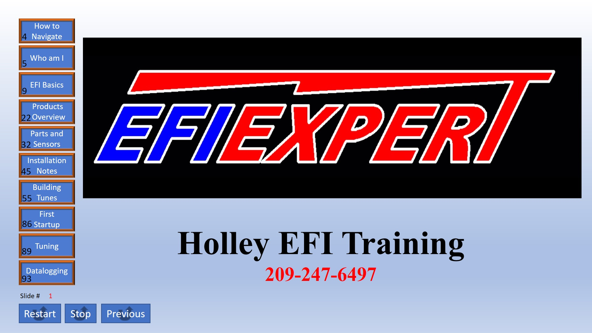 Holley EFI ONLINE training
