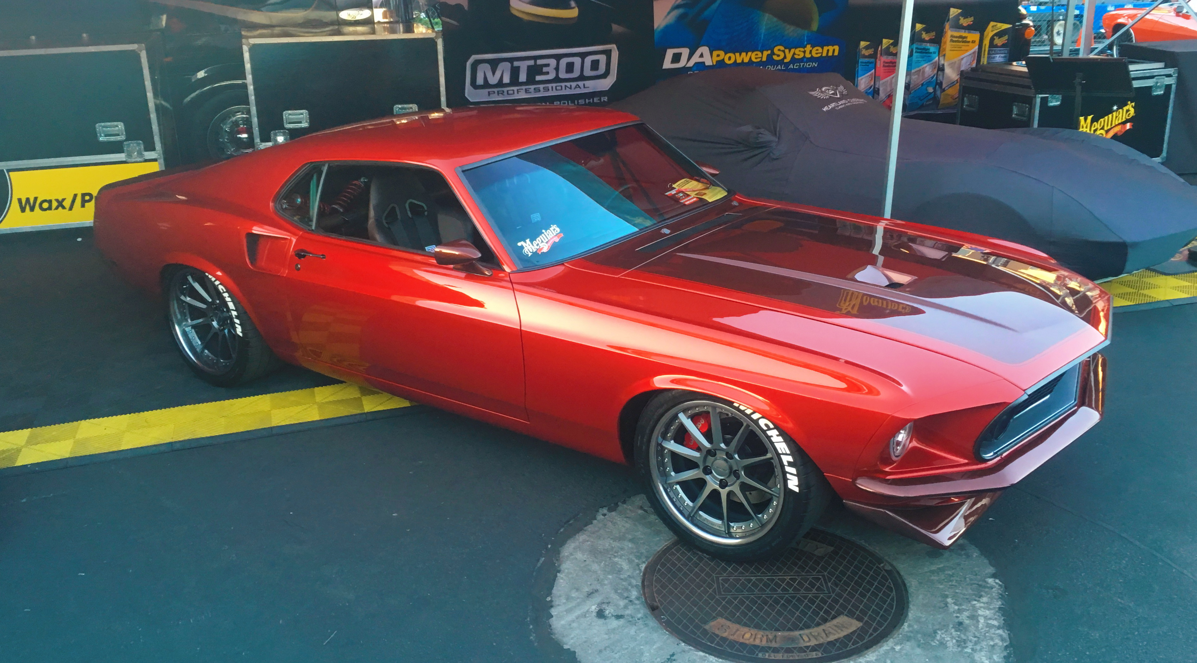 SEMA car at Meguiars booth
