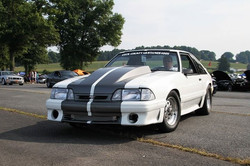 88 turbo stang running Holley