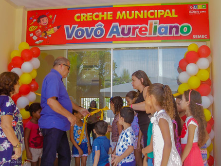 Prefeito Isaac Lima inaugura Creche Vovô Aureliano Moreira de Andrade no bairro Iracema