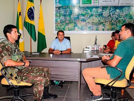 Prefeitura de Mâncio Lima e Exército Brasileiro reafirmam parcerias