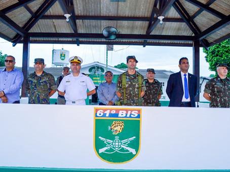 Prefeito Isaac Lima participa da solenidade de Incorporação de 134 novos soldados no 61º BIS