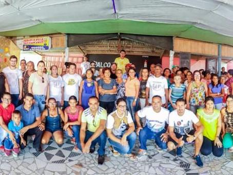 Encontro do Grupo de Hiperdia da Unidade de Saúde Sofia Almeida Barreto no bairro da Colônia