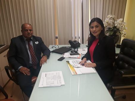 Prefeito Isaac Lima visita Deputada Jéssica Sales e discute andamento dos projetos de 2017 e 2018
