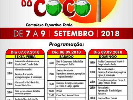 Prefeitura de Mâncio Lima realiza 2ª edição do Festival do Coco