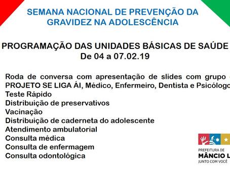 Semana Nacional de Prevenção da Gravidez na Adolescência tem início em Mâncio Lima