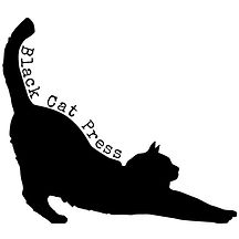 black cat press logo with white backgrou