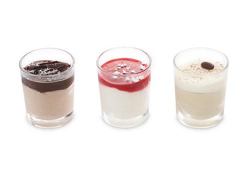 Mini roomijs glaasjes 6 x 60 ml