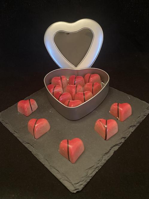 Valentijnhart gevuld met hartjes