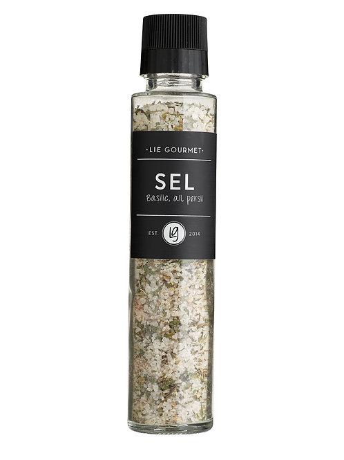 Lie Gourmet Grof zeezout basilicum, knoflook en peterselie