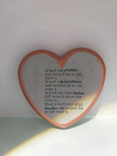 Een hart van ... met tekst