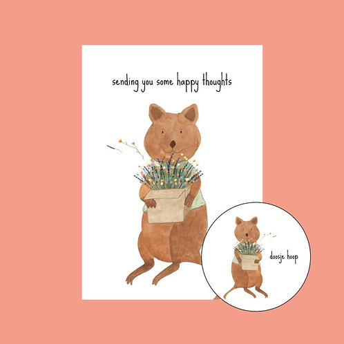 Postkaart - met magneet doosje hoop