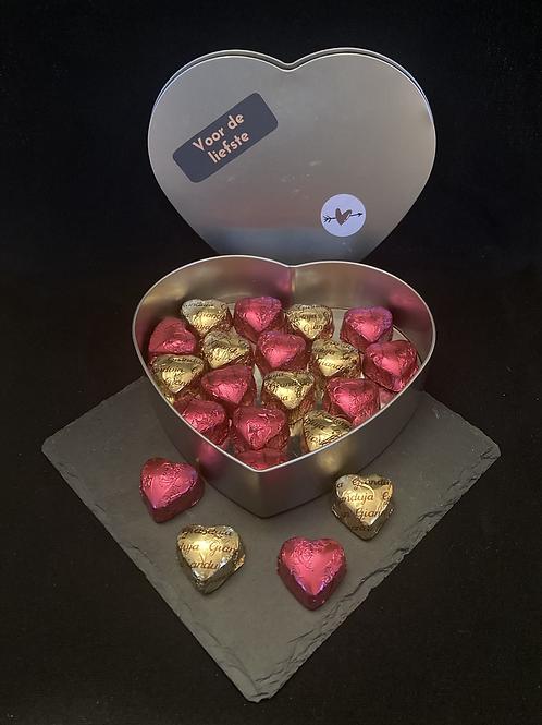 Valentijnhart groot gevuld met hartjes