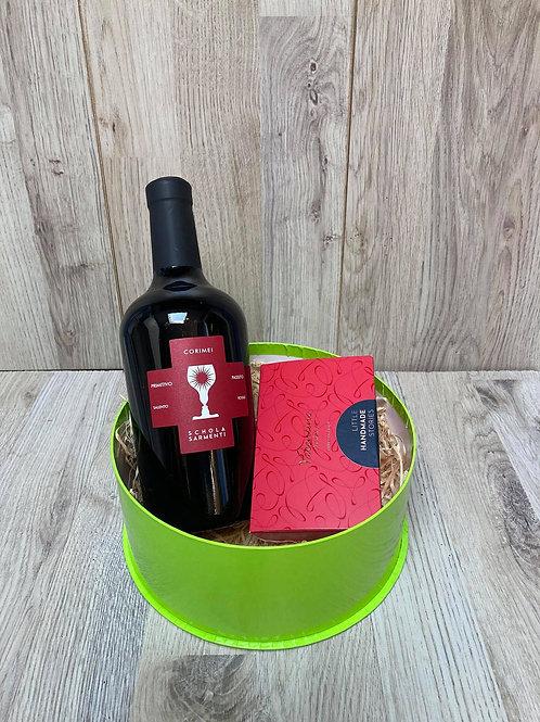 Pakket met zoete wijn