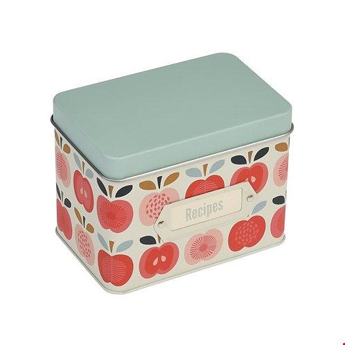 Vintage appel receptenblik