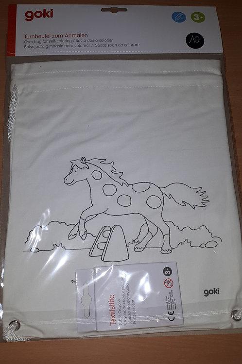 Kleur je eigen gymtas paard
