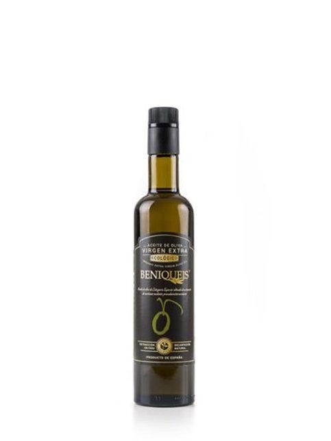 Beniqueis biologische olijfolie van superieure kwaliteit, koud geperst. 1000 ml