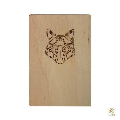 Houten kaart Kat