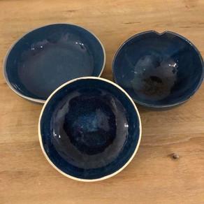 Kommetjes blauwe tinten