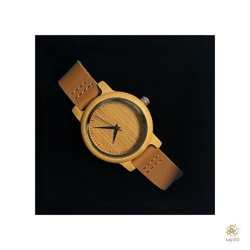 Horloge dames bamboo