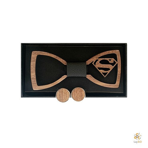 Houten strikje Superman