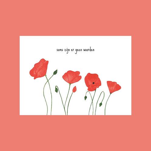 Postkaart soms zijn er geen woorden