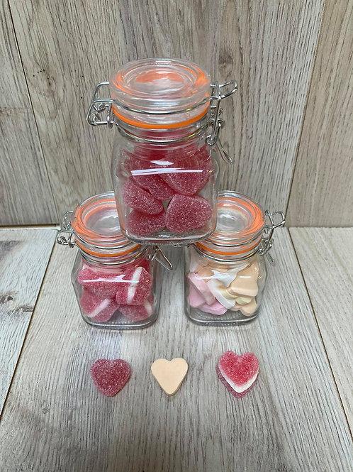 Kleine snoepotjes te vullen met snoep naar keuze