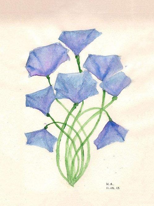 Geschenkdoosje bloem blauw
