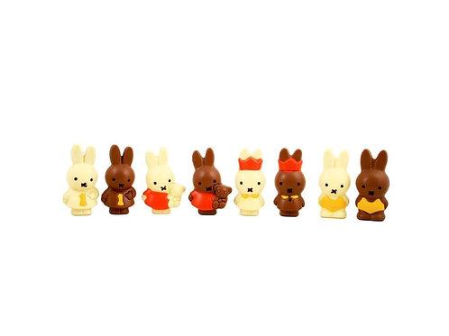 Nijntje ( 7 cm) in melkchocolade of witte chocolade
