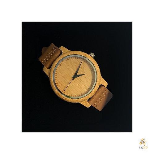 Horloge heren bamboo