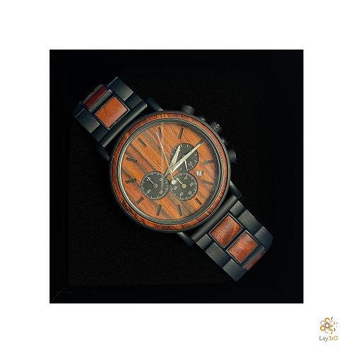 Horloge heren rozenhout