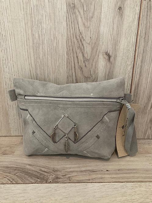 Handtas grijs om aan broekriem te hangen
