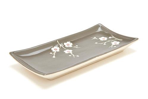 Bord grijs bloem