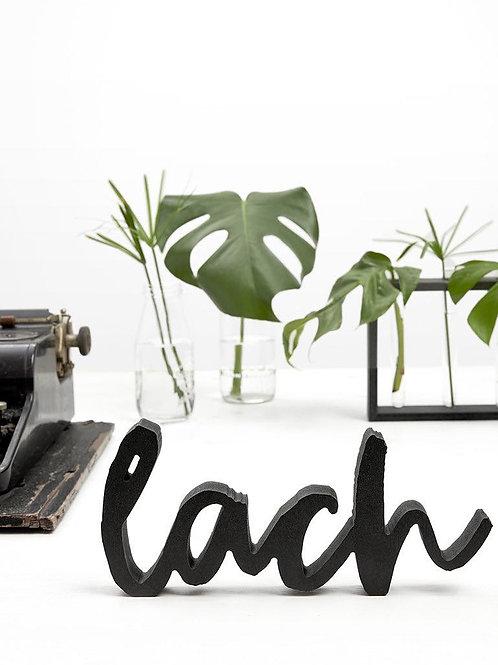 Houten letters Lach