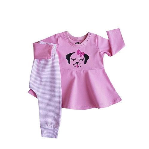 Pyjama roze hondje vanaf 92 tot 104